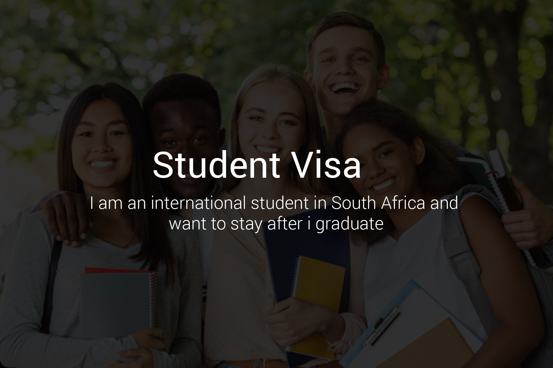 SOUTH AFRICAN STUDENT VISA